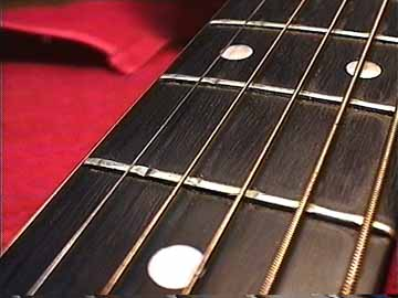 The Frets Above Are Worn Under Treble Strings Because Steel Cut Into Softer Fret Material Brass Winding On Bass